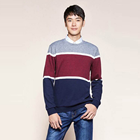 Men's wear T-shirt relaxation reound add two pieces of thick thick to keep warm fashion