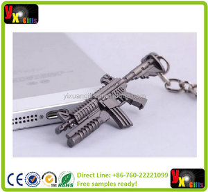 Novelty Items Counter Strike AK47 Guns Keychain Trinket Chaveiro Sniper Key Chain Key Ring Jewelry Souvenirs Gift Men Llaveros