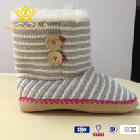 Newest knit women snow boots comfortable shoes