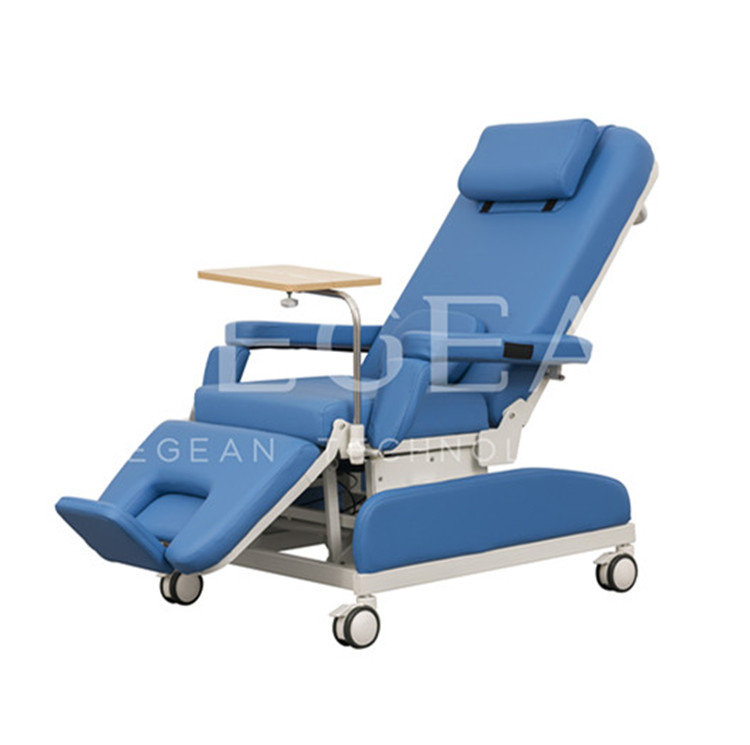 Hospital dialysis relining patient treatment used manual phlebotomy chair blood donation chair for sale