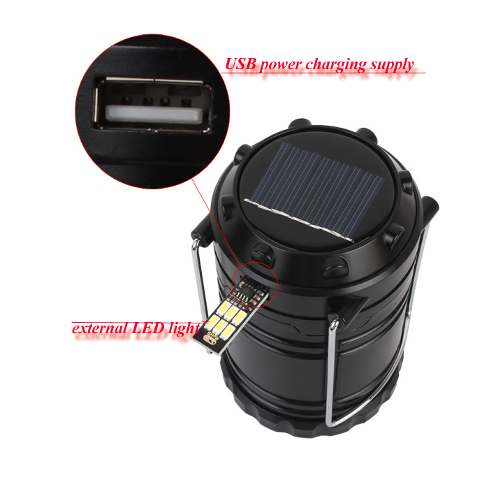 10 Years No Complaint Abs Telescopic Solar Camping Lamp With ...