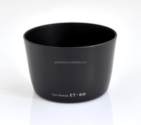 ET-60 Lens Hood for Canon T3i T2i T1i T3 XTi XT XSi with 55-250mm 75-300mm Black