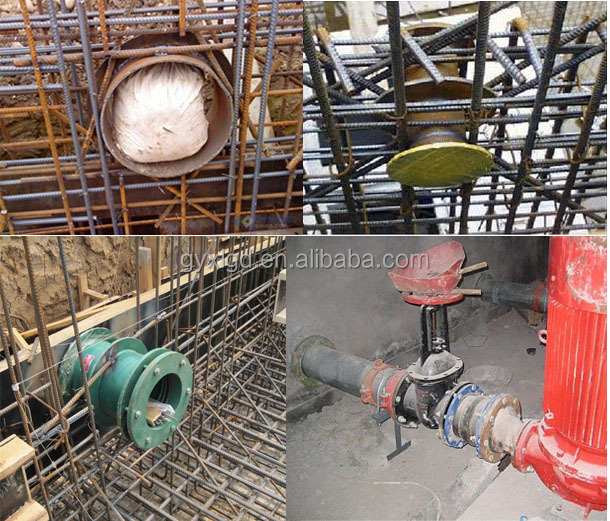 Stainless steel concrete wall penetration pipe sleeves for