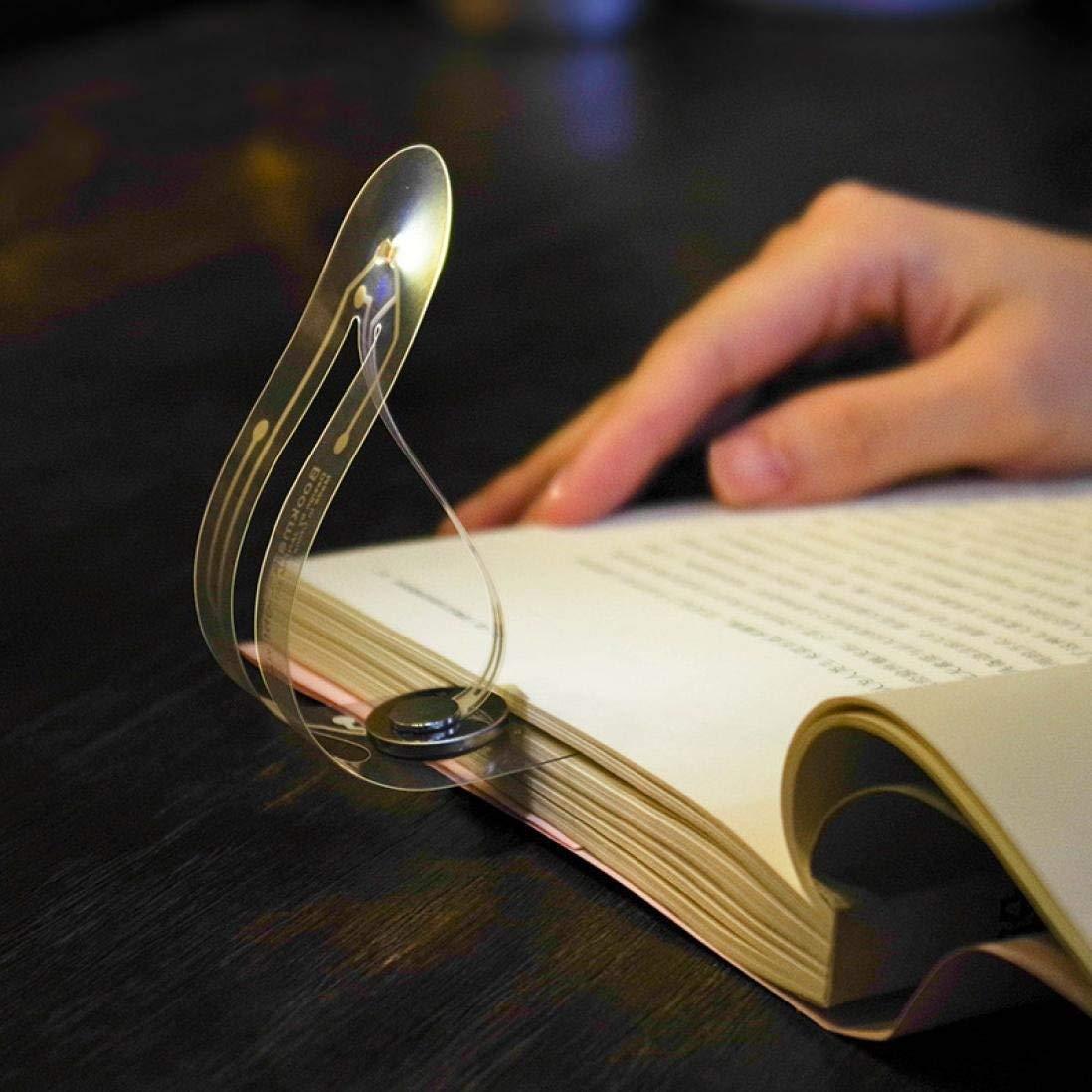 Creative! Caopixx Mini Portable Night Light Bookmark Lights LED Portable Reading Books Light (Silver)