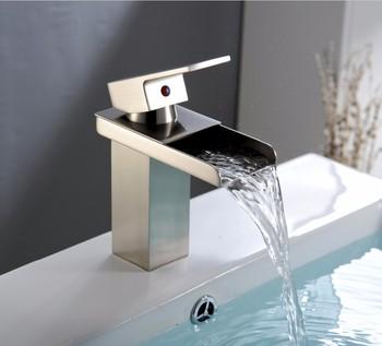 Brushed Nickel Waterfall Bathtub Faucet Ld8020 029b Buy Brushed