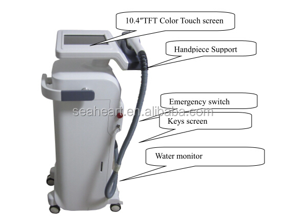 CE approval Stationary 808nm diode laser hair removal machine