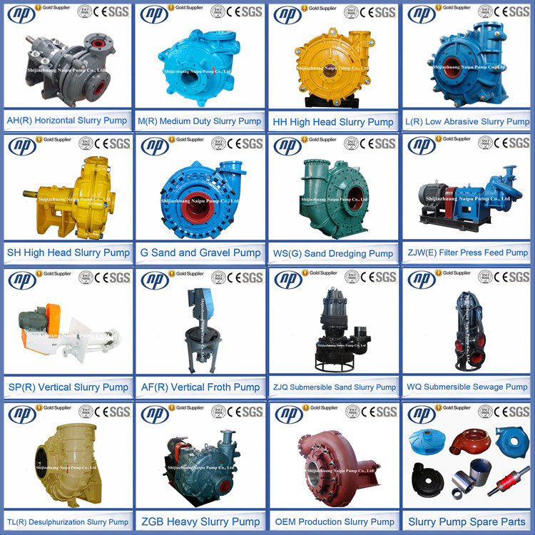WS(G) Standard or Nonstandard Sea Sand Dredging Centrifugal Pump