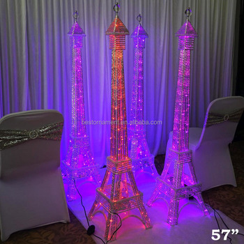 57 Tall Led Lights Eiffel Tower Centerpiece For Wedding Party Home Decorations