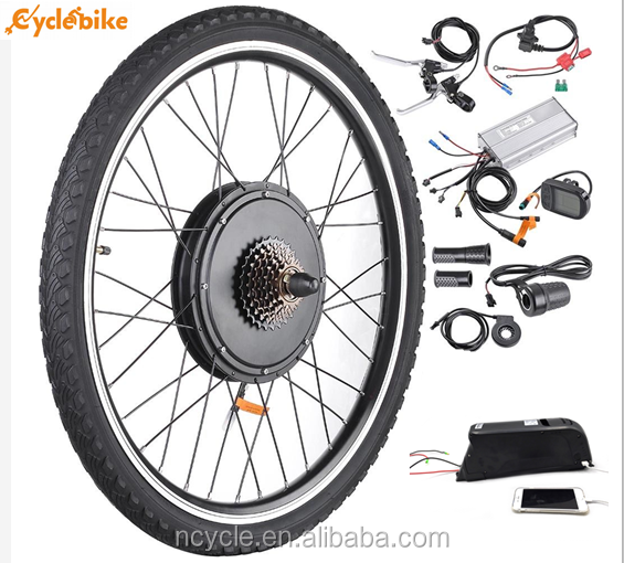 "48V 1500W Electric Bicycle E-bike Front Wheel Bike 26"" Conversion Kit Hub Motor"