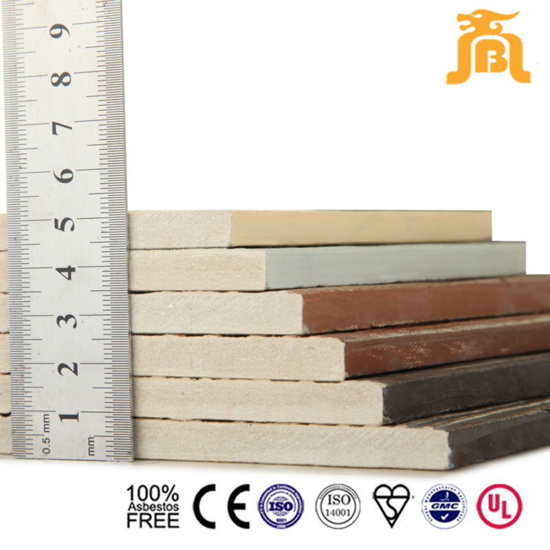 Non combustible Wood grain Fiber Cement Board Bronze color
