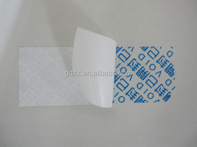 zx636 Printed tamper evident security label for delivery company