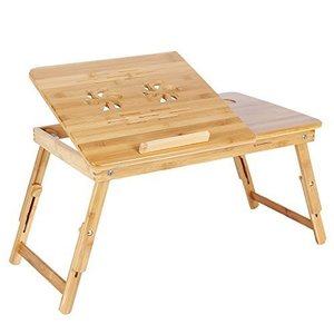 bamboo wooden laptop stand , computer bed table