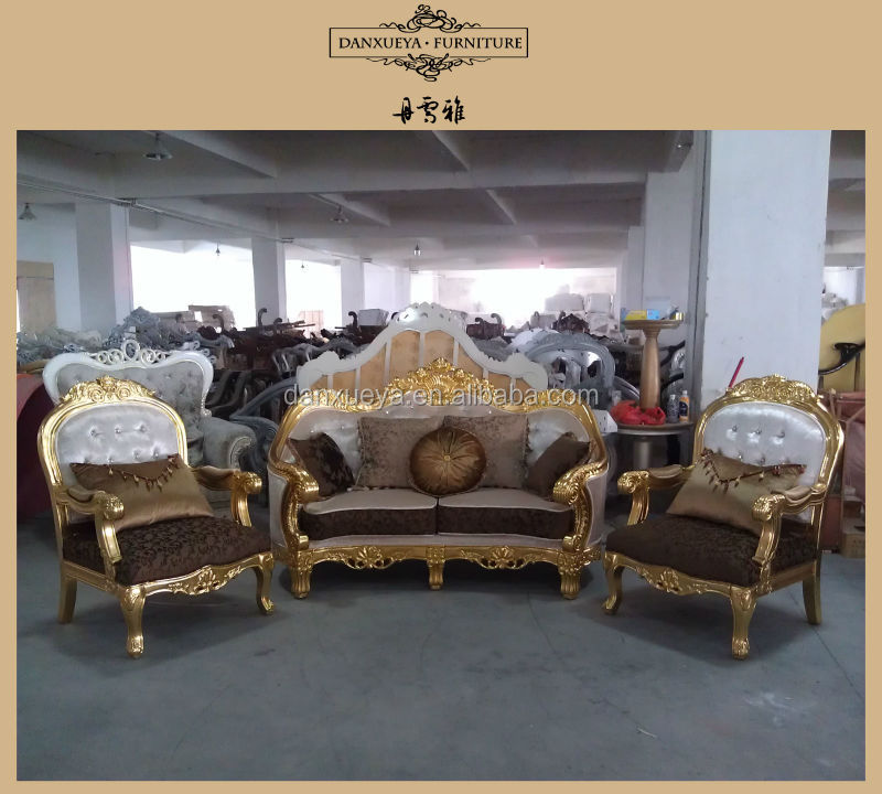 Captivating DXY  807# Alibaba China Furniture Fabric Sofa/golden Wood Frame Sofa