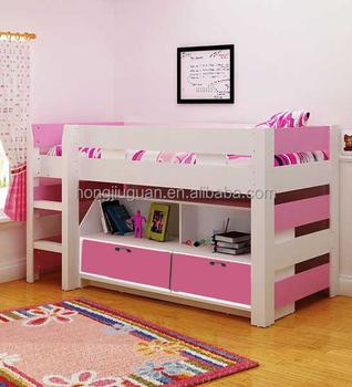 MDF kidu0027s bed UK Bunk Bed Kids Mid Sleeper +Storage & Mdf Kidu0027s BedUk Bunk BedKids Mid Sleeper +storage - Buy Mdf Kidu0027s ...