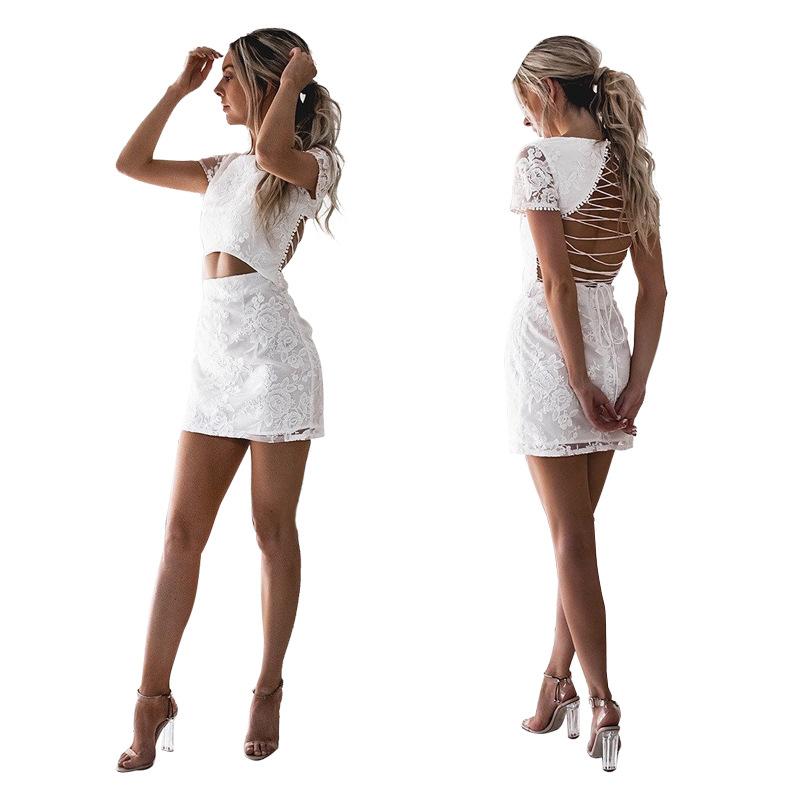 release date: 63985 36b5c Großhandel weißes kleid kurz eng Kaufen Sie die besten ...