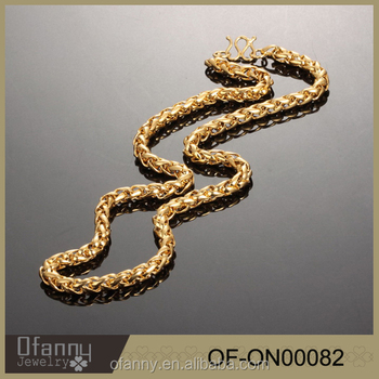 2016 fashion jewelry chain necklace gold necklace designs