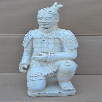 Wholesale Chinese Warrior Statue Kneedling Terracotta Warrior Garden Statue