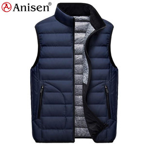 winter hot sale nylon waterproof fishing puffy down look vest for mens