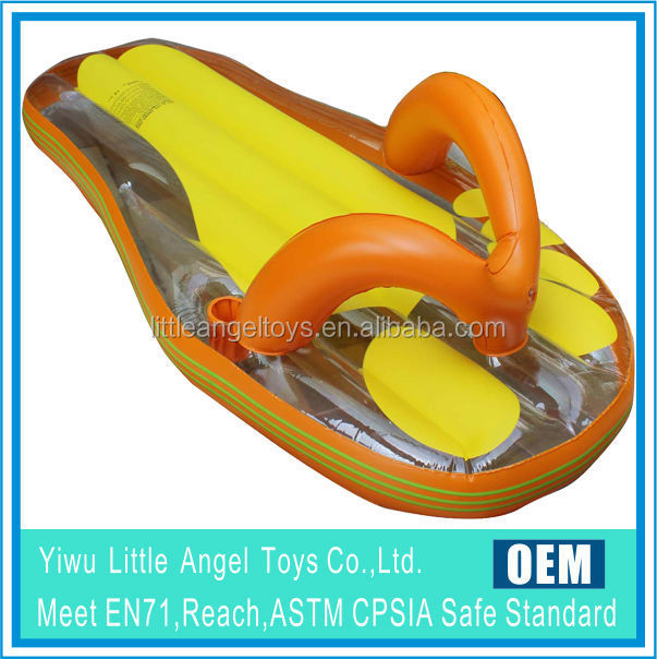 Inflatable adult snow ski sled
