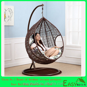 rattan hanging swing chair+ garden furniture set rattan egg chair