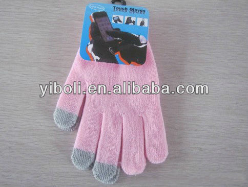 Safe, beautiful, convenient electronical products touch sreen gloves
