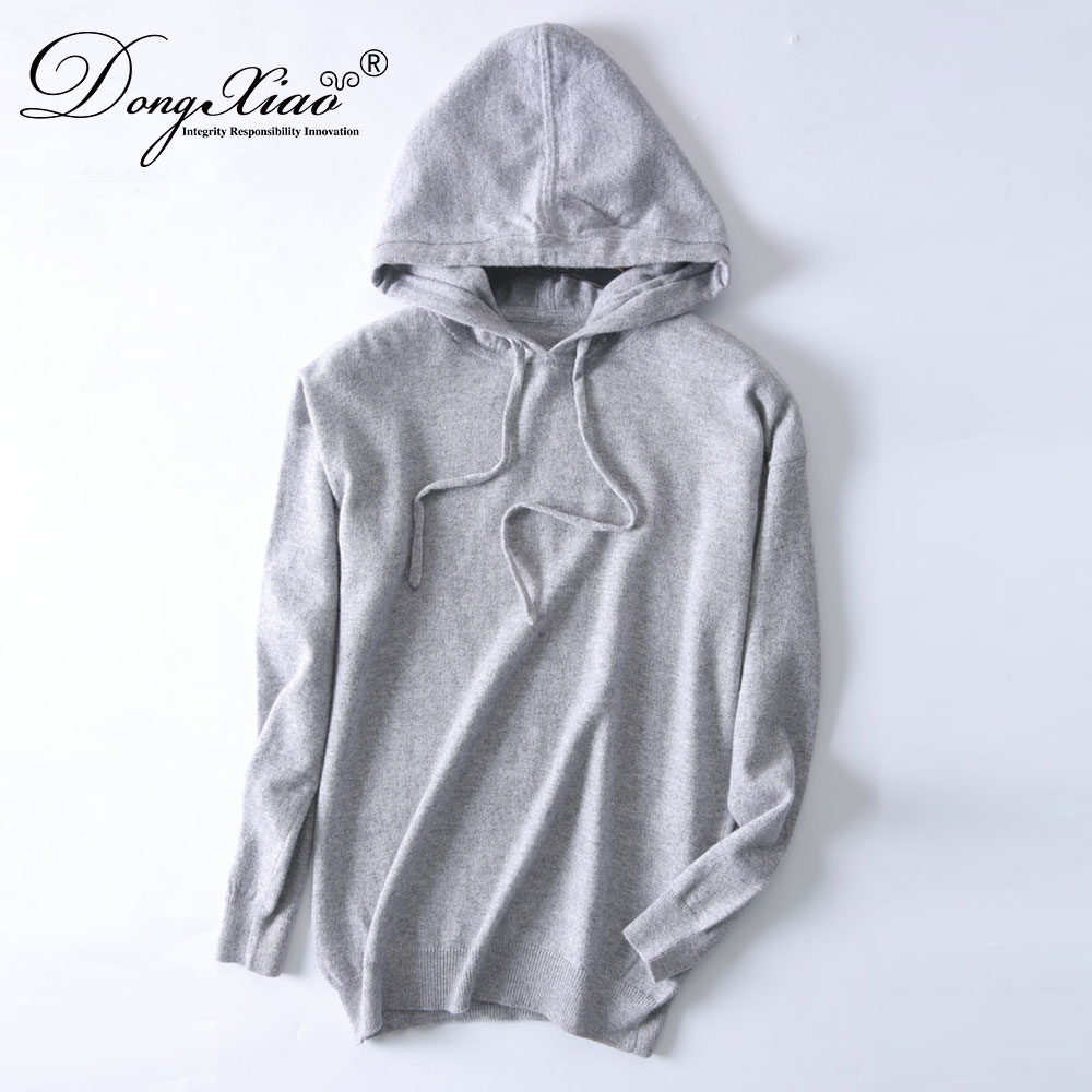 100% Inner Mongolia cashmere thick with Hoodies for unisex