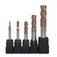 HRC 60 carbide end mill 4 flute carbide flat endmills Metal cutting slotted knife iron cutting tool