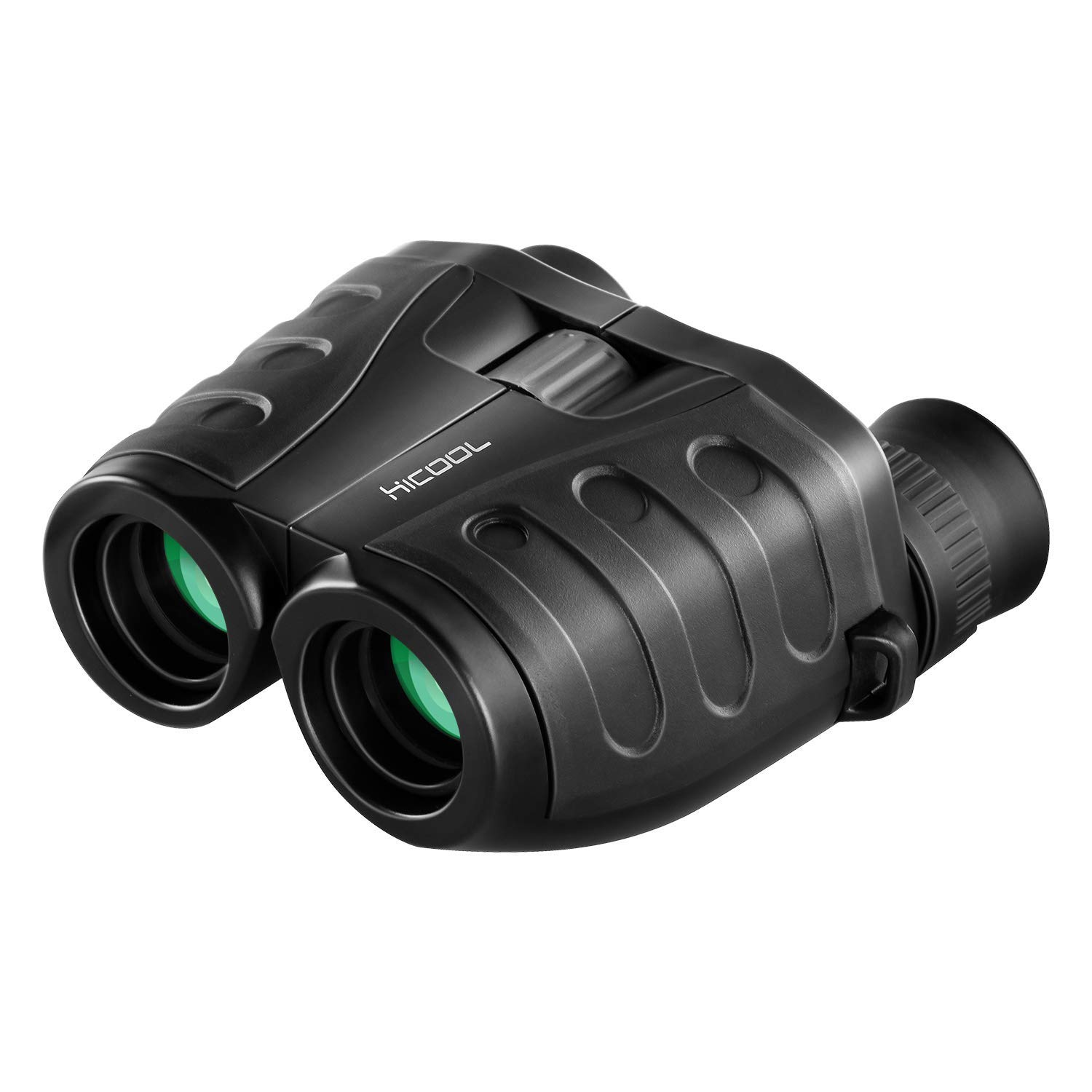 Binoculars, HiCool 10x25 Compact Binoculars for Adults and Kids Folding Lightweight Binoculars with FMC Coated Lens Weak Night Vision for Bird Watching, Hunting, Hiking, Concert and Sports Games