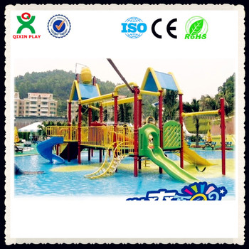 China Water Park Supplier Swimming Pool Play Equipment Kids Water Play  Equipment Kids Plastic Water Slides Qx-081d - Buy Swimming Pool Play ...
