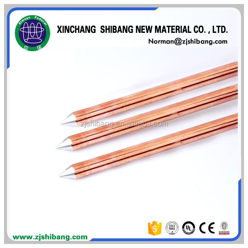 Commercial Lightning Protection Copper Earth Wire Grounding Rod ...