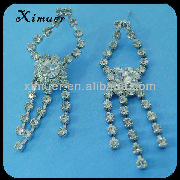 Factory price alloy crystal sterile earring