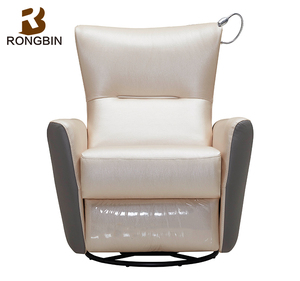 Free shipping Swivel rocker vibrate power recliner chair with light for study room