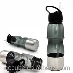 PS water bottle bpa free with handle and bite valve