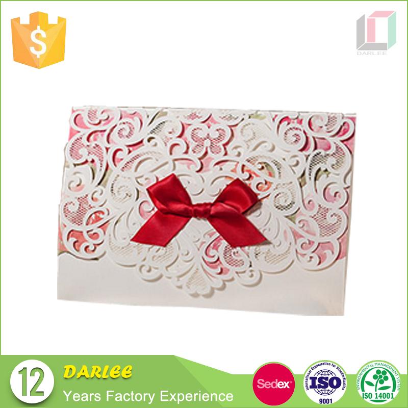 China lace wedding invitations wholesale 🇨🇳 - Alibaba