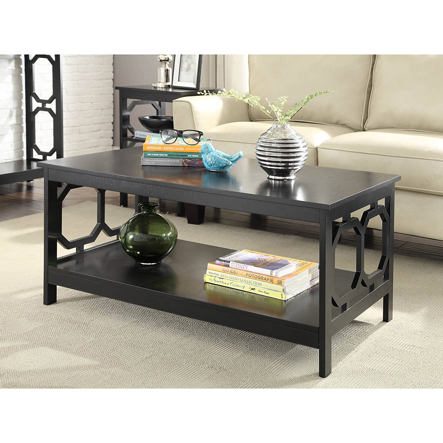 b30d0be4569c3 Living Room Coffee Table Home Furniture Contemporary Rectangular Books  Magazine Storage