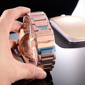 Hot USA luxury goods minimalist men's stainless steel Led metal wrist watch
