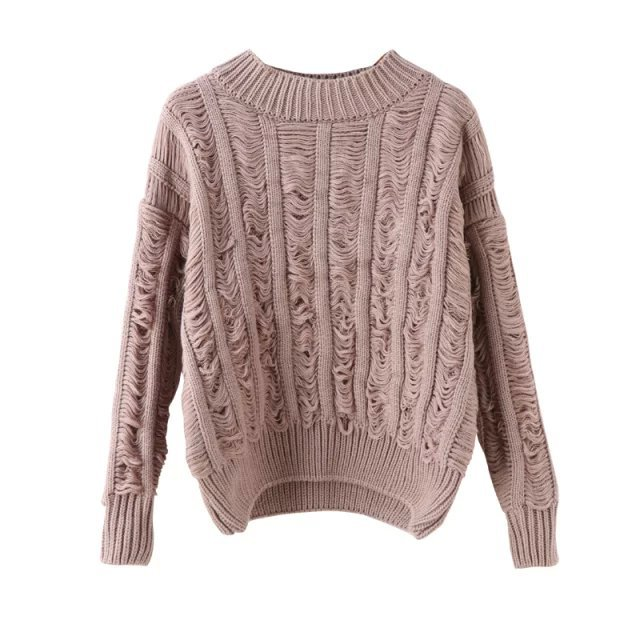 91ee5f0f4e529 Get Quotations · 2015 Autumn New Korean Knitting Women Sweater Half  Turtleneck Solid Tassel Decorated Sweater Pullover Long Sleeve