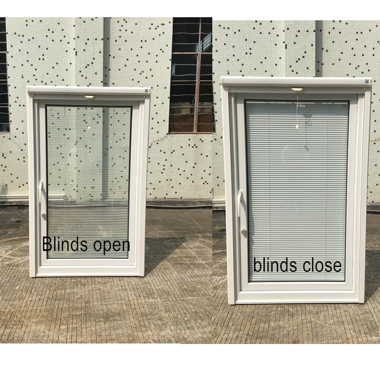 Blind Inside PVC double Small Glass window