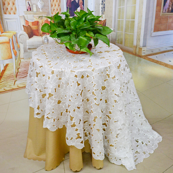 White Wedding Tablecloths With 72u0026quot; 180cm Round