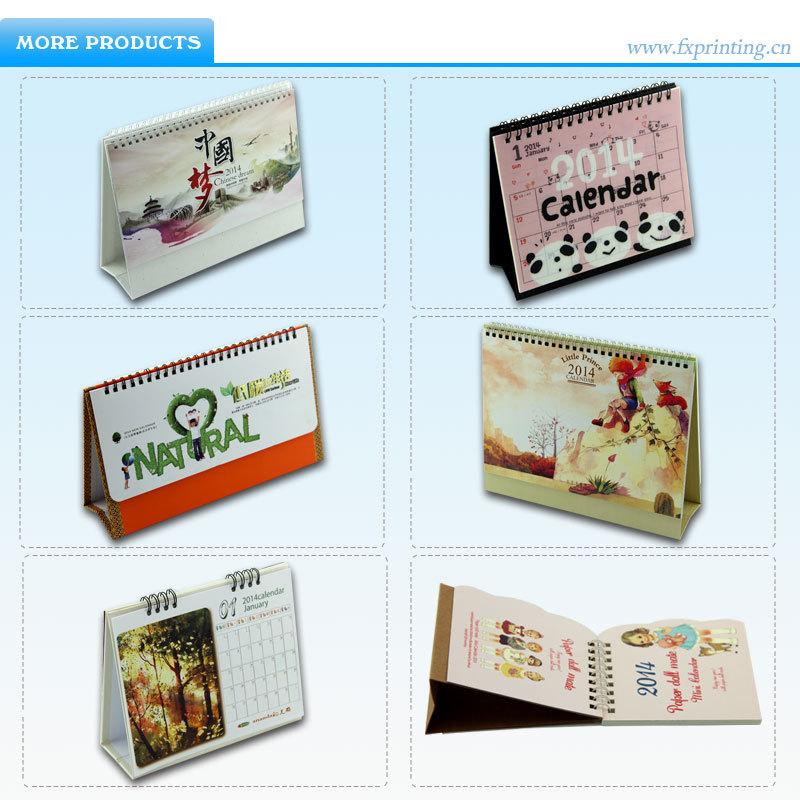Handmade Calendar Designs : Handmade print creative standing desk daily fold wall