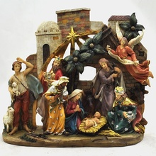 <span class=keywords><strong>Resina</strong></span> <span class=keywords><strong>statue</strong></span> religiose commercio all'ingrosso Natività Figurine