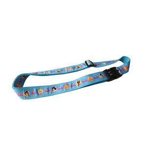 Custom Cartoon luggage belt with scale and luggage strap with Lock