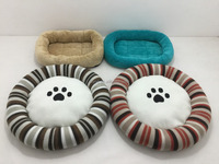 colorful pet bed fleece cat mat cheap paw cat / puppy dount
