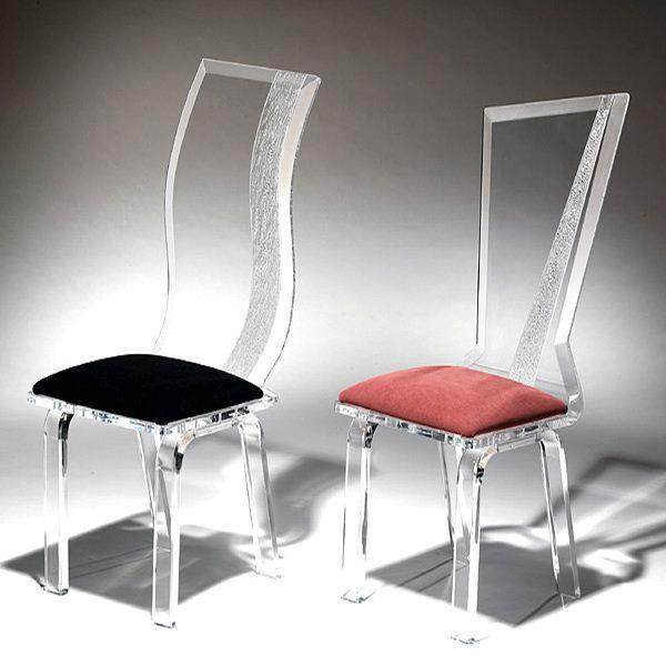 costumbre comedor acrílico preside claro, silla apilable fantasma ...