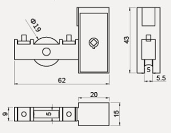 W-302, High quality zinc alloy sliding window roller with lock