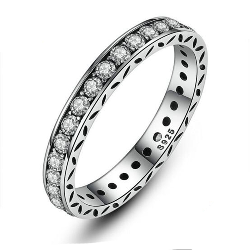 925 sterling silver AAA CZ stone stacking rings for women classic casting jewelry sterling silver wedding engagement rings