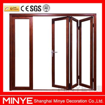 Tempered Glass Security Door Design Aluminum Folding Door /energy ...