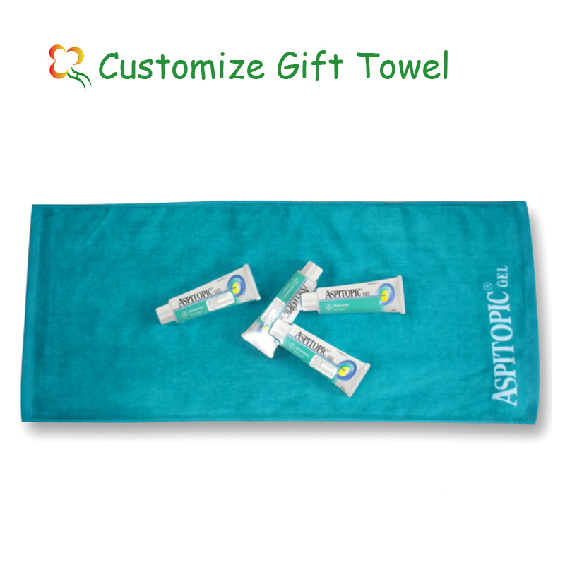 100% cotton material hotel towel custom printed towel fancy gift items new idea