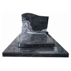 High Quality Black Granite Monument Modern Tombstone Carved
