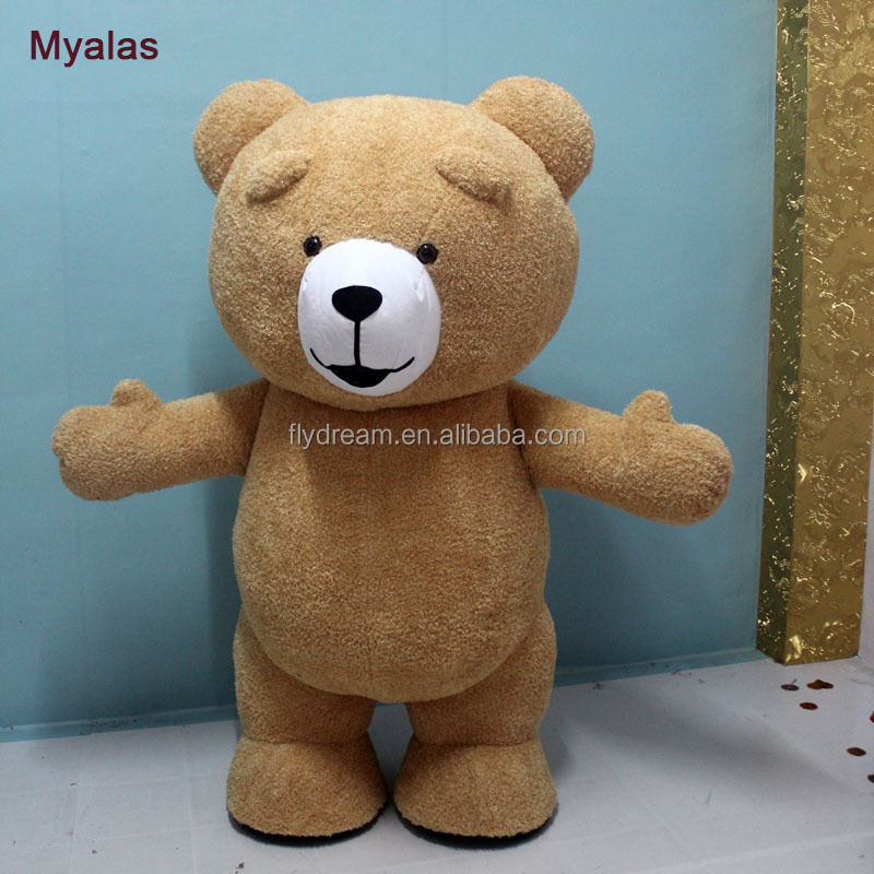 Teddy Bear Mascot Costume Inflatable Customize Adult Suitable For Adult Mascot Costume For Adult Animal Costume Brown